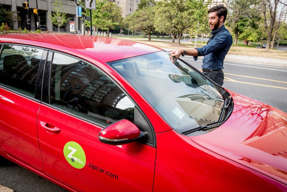 Zipcar Membership Card Placement