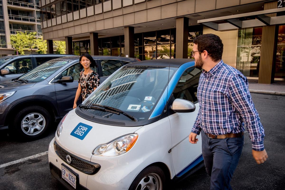 car2go Passengers Parked Car