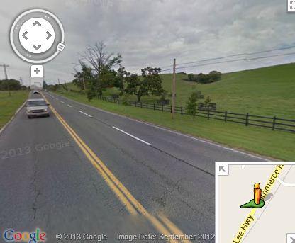 Lack of sidewalk on rural road