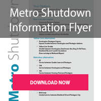 Download the Summer Metro Shutdown 2019 Flyer